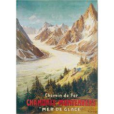 vintage posters chamonix - Recherche Google