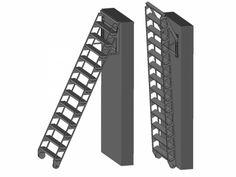 ZAP UP - Verschuifbare trapladder Design Despace, Open Trap, Stair Landing, Metal Projects, Zip Ups, Ladders, Attic, Loft, Studio