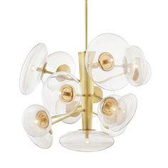 Opera Chandelier – BURKE DECOR Sloped Ceiling, Ceiling Lights, Kelly Behun, Multi Light Pendant, Thing 1, Hudson Valley Lighting, Burke Decor, Incandescent Bulbs, Polished Nickel