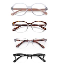 Eyewear Trends for 2014 | four clear eyeglass trend 2014 frames from Rivet and Sway