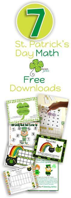 St. Patrick's Day Math Free Download {Goodie Bag}