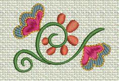 Free machine embroidery design Jacobean!