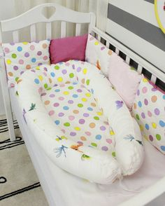 Butterfly & Dots Baby Nest, Babynest, Baby Bed, Baby Pillow, Co sleep, Travel Bed, Baby Sleep, Baby Cocoon, Baby girl boy