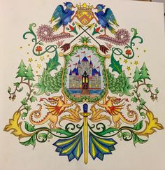 Coat Of Arms Enchanted Forest Coloring Book Johanna