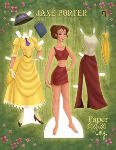 Duchess and poor girl Disney Paper Dolls, Barbie Paper Dolls, Vintage Paper Dolls, Paper Puppets, Paper Toys, Paper Crafts, Disney Diy, Disney Crafts, Tiana Disney