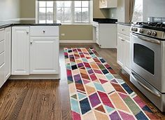 Rugshop Modern Geometric Design Color Soft Area Rug Runner 2 x 72 Multicolor >>> Read more  at the image link. (This is an Amazon Affiliate link and I receive a commission for the sales)