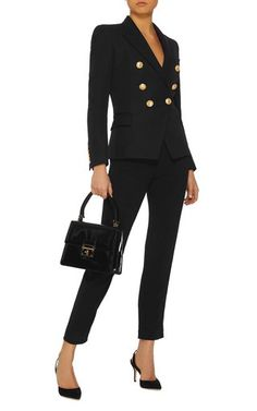 Women's Designer Blazers | Moda Operandi Classy Outfits, Chic Outfits, Black Outfits, Balmain Blazer Outfits, Latest Fashion Design, Business Outfits, Business Attire, 2 Piece Outfits, Elegant Outfit