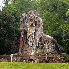 "The ""Appennine Colossus"" by Giambologna."
