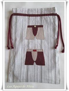 Las Agujas de Alicia: Bolsas de tela para lenceria