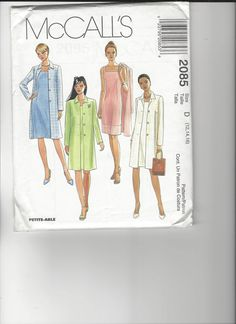 McCall's Pattern 2085 sizes 12-14-16 UNCUT by SewingasaHobby on Etsy