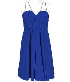 Love this blue, then pair with some crazy colored heels.