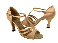 1683 Brown Satin - Very Fine Dance Shoes