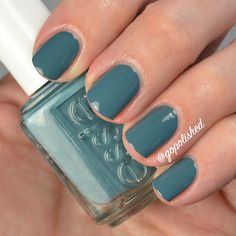 Essie Pool Side Service. I love these blue green shades! My favorite from the Essie Spring 2016 collection. @gopolished