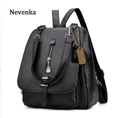 Women Leather Backpack Zipper Fashion Style
