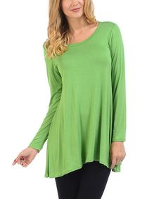 Another great find on #zulily! Lime Scoop Neck Tunic #zulilyfinds