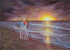 picture of footprints in the sand with jesus | set of footprints it was then that i carried you