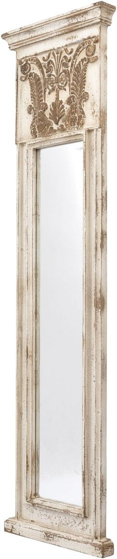 Beautifully meeting subtly-carved flourish detail with a gently distressed antique cream finish, the Argent tall thin mirror is a magnificent piece perfect to add compelling character to your home decor. Flourish, Decorative Accessories, Oversized Mirror, Carving, Cream, Mirror Mirror, Detail, Antiques, Mirrors