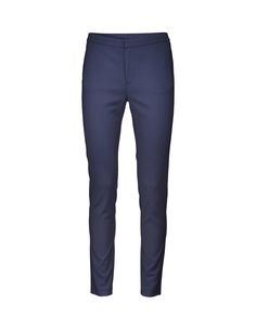 Cristin S trousers - Women's black trousers in soft cotton-blend. Feature front zipper and side panel at leg. Cutline detail at back yoke and front. Black Trousers, Trousers Women, Women's Trousers, Tiger Of Sweden, Capsule Wardrobe, Leggings Are Not Pants, Sweatpants, Slim, Legs