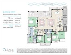 Condos for sale Siesta Key FL - Oceane Siesta Key offers two distinct new penthouse floorplans - Oceane East and Oceane West. Sarasota Florida, Siesta Key Condo, Interior Balcony, Flex Room, Gulf Of Mexico, Condos For Sale, Floor Plans, How To Plan, Indoor Balcony