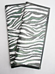 Zebra print woman's duct tape wallet