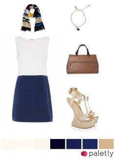 blue, white, beige