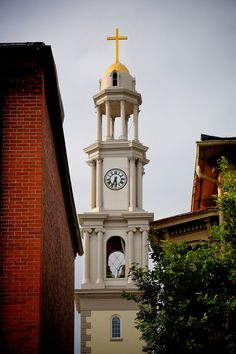 One of the spires of Frederick, Maryland