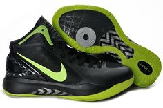 Ken Griffey Shoes Nike Hyperdunk 2011 Black Green [Nike Hyperdunk 2011 - Excellent design makes the Nike Hyperdunk 2011 Black Green kicks look handsome. The lightweight Flywire upper sports a dominant black colorway. What's more, these shoes with green Best Sneakers, Air Max Sneakers, Sneakers Nike, Nike Lebron, Blake Griffin Shoes, Nike Factory Outlet, Nike Outlet, Green Basketball Shoes, Nike Shoe Store