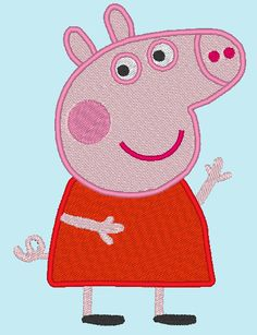 Peppa Pig Applique Embroidery for Machine Design by EmbellishStar, $3.00