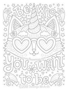 Live a Colorful Life Coloring Book features 40 whimsical illustrations of uplifting positive phrases that offer endless hours of therapeutic coloring fun! Coloring Pages For Grown Ups, Summer Coloring Pages, Detailed Coloring Pages, Love Coloring Pages, Printable Adult Coloring Pages, Christmas Coloring Pages, Coloring Books, Coloring Sheets, Abstract Coloring Pages