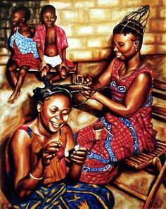 We Love & Support The African American Arts! Black Love, Black Is Beautiful, African Threading, African Natural Hairstyles, Black Hairstyles, Afro Style, Black Artwork, Afro Art, African Diaspora
