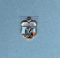Vintage Enamel Silver Penguins Tierpark Duisburg Zoo Germany Shield Charm | eBay