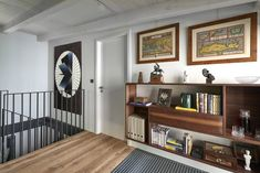 After previous collaboration, we were approached by AVI client to design a studio where the client could work in a pleasant environment,. Prague, Studios, Bookcase, Entryway, Shelves, House, Furniture, Design, Home Decor