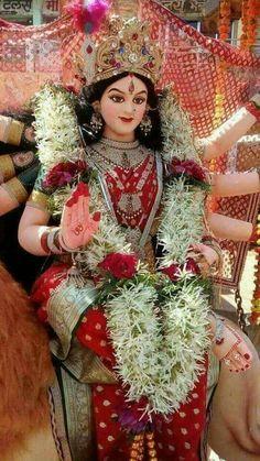 JAI MATA 👑💖💖 RANI 💖💖💖 Krishna Hindu, Radha Krishna Images, Shiva Shakti, Saraswati Devi, Krishna Temple, Hindu Temple, Navratri Devi Images, Navratri Puja, Maa Durga Photo