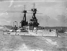 12 in battleship HMS Temeraire, one of the 3 ship Bellerophon class that succeeded the prototype HMS Dreadnought into service.  The name has remained in Royal Navy use ever since the distinguished performance of her captured French namesake in British use at Trafalgar in 1805.