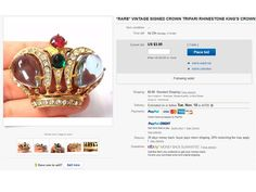It would be difficult to believe that anyone would fall for this as a Trifari crown, an obvious modern FAKE