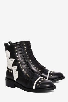 Nasty Gal Susannah Studded Leather Boot | Shop Shoes at Nasty Gal!