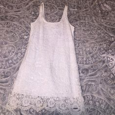 White lace dress White lace Abercrombie and Fitch dress. Bought for graduation and didn't end up wearing it. Size 8 perfect condition. Great summer dress!! Abercrombie & Fitch Dresses Mini