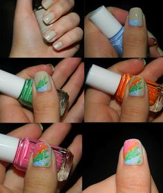 toothpick splatter with Essie summer collection!