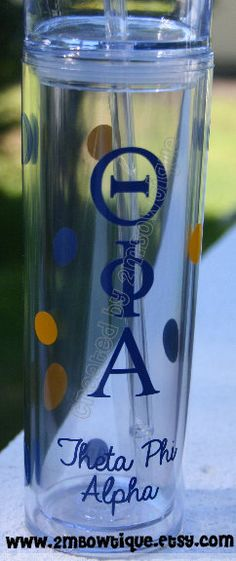 Sorority Tumbler Cups. Free Personalization. Great gift idea! on Etsy, $12.00