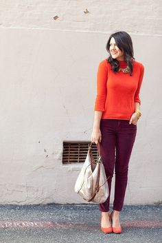 Unexpected Color Combos to Try in the New Year: oxblood and orange