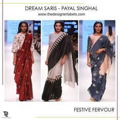 Payal Singhal Inc.'s range of saris are best suited for a contemporary Indian look #india #fashion #sari #saree #indianwear #festivewear