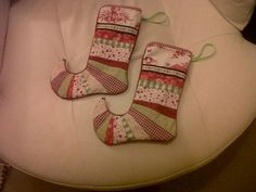 Christmas In July Stocking Patchwork and Fleece by blueberryfudge, £15.00