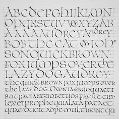 Uncial research Calligraphy by Julien Priez