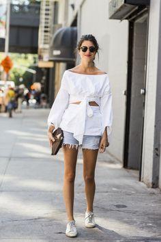 Cómo llevar tus white tennis : ELLE