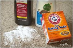 hydrogen peroxide and baking soda