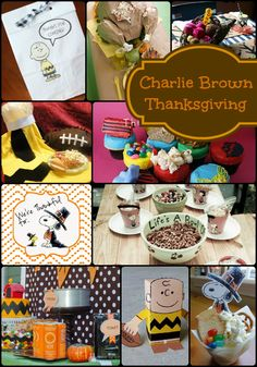 How to host a Charlie Brown Thanksgiving party. Lots of fun ideas