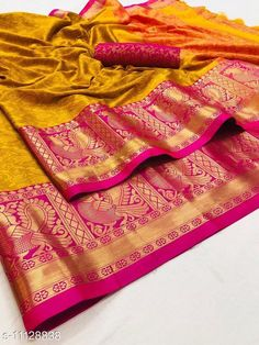 Checkout this latest Sarees Product Name: *new aura cotton silk saree beautiful jequard weaving border saree* Saree Fabric: Cotton Silk Blouse: Separate Blouse Piece Blouse Fabric: Jacquard Pattern: Woven Design Blouse Pattern: Woven Design Multipack: Single Sizes:  Free Size (Saree Length Size: 5.5 m, Blouse Length Size: 0.8 m)  Country of Origin: India Easy Returns Available In Case Of Any Issue   Catalog Rating: ★4 (412)  Catalog Name: Trendy Alluring Sarees CatalogID_2070973 C74-SC1004 Code: 316-11128838-6471