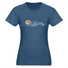 Elizabeth I Signature & Seal Organic Women's Fitted T-Shirt. Blue. CafePress link: http://www.cafepress.com/mf/24462957/elizabeth-i-signature_tshirt#