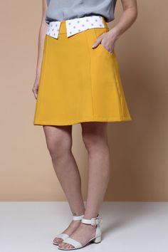 Vente jupe jaune Mini jupe jupe moutarde Womens jupe par ilovemona