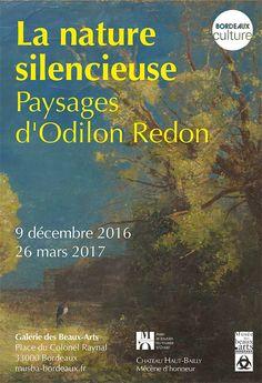 exposition La nature silencieuse. Paysages d'Odilon Redon, présentée à la Galerie des Beaux-Arts de Bordeaux, 2016